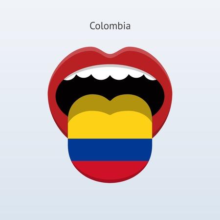 Colombia language. Abstract human tongue.