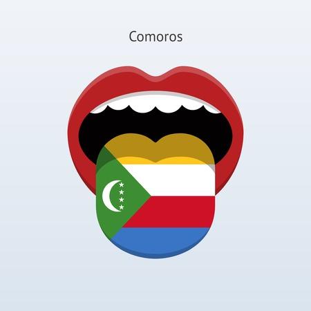comoros: Comoros language. Abstract human tongue.