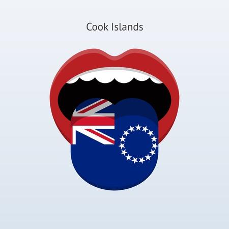 Cook Islands language. Abstract human tongue.