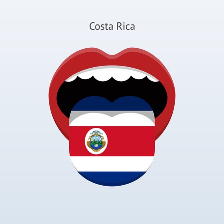 linguist: Costa Rica language. Abstract human tongue.