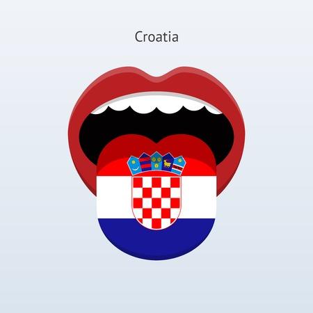 linguistics: Croatia language. Abstract human tongue. Illustration