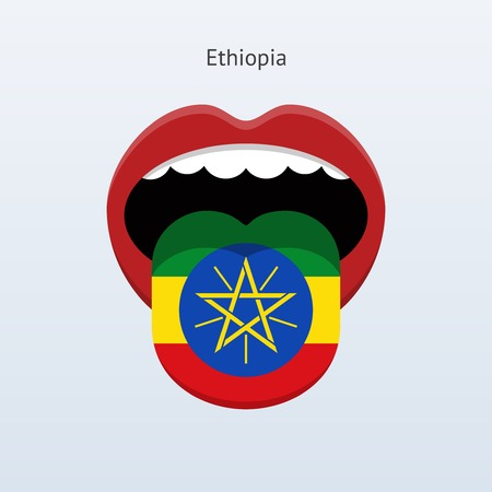 ethiopia abstract: Ethiopia language. Abstract human tongue. Vector illustration. Illustration