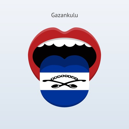 Gazankulu language. Abstract human tongue. Vector illustration. Çizim