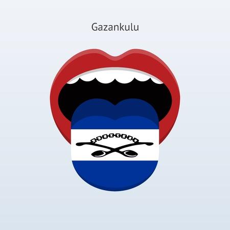 human tongue: Gazankulu language. Abstract human tongue. Vector illustration. Illustration