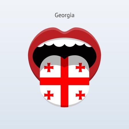 linguist: Idioma Georgia. Lengua humana abstracta. Ilustraci�n del vector. Vectores