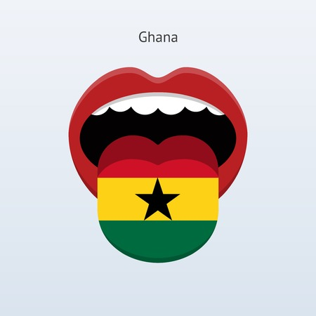 linguistics: Ghana language. Abstract human tongue. Vector illustration. Illustration