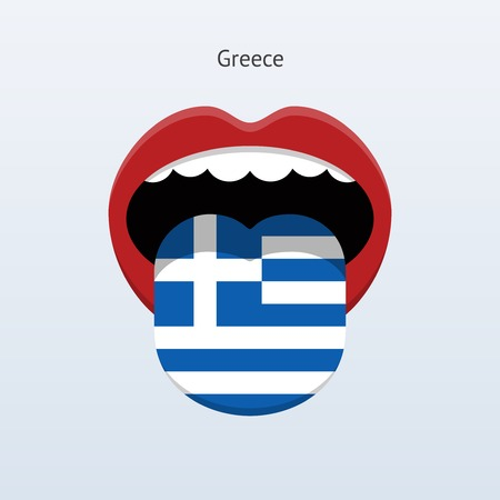 linguist: Greece language. Abstract human tongue. Vector illustration. Illustration