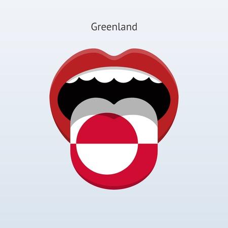 linguist: Greenland language. Abstract human tongue. Vector illustration. Illustration