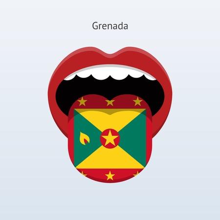 linguist: Idioma Granada. Lengua humana abstracta. Ilustraci�n del vector.