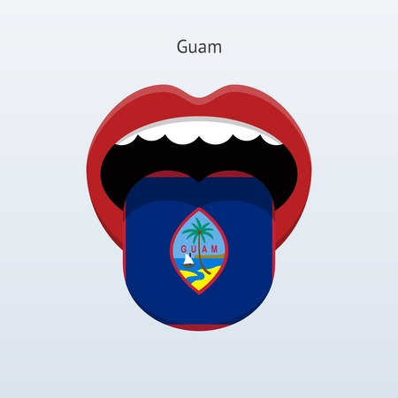 guam: Guam language. Abstract human tongue. Vector illustration.