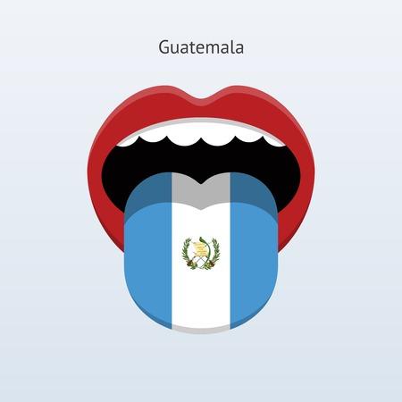 linguist: Guatemala language. Abstract human tongue. Vector illustration.