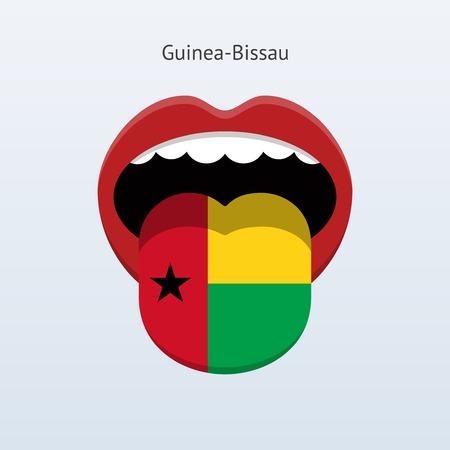 linguistics: Guinea-Bissau language. Abstract human tongue. Vector illustration. Illustration