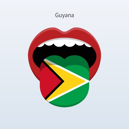 linguist: Guyana language. Abstract human tongue. Vector illustration. Illustration