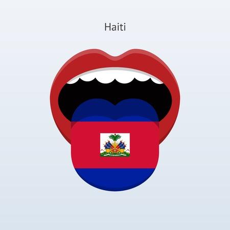 linguist: Idioma Hait�. Lengua humana abstracta. Ilustraci�n del vector.