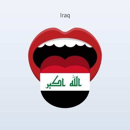 Iraq language. Abstract human tongue. Vector illustration.