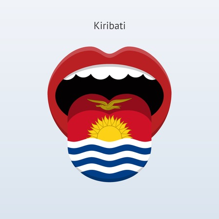 Kiribati language. Abstract human tongue. Vector illustration.