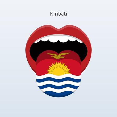 linguistics: Kiribati language. Abstract human tongue. Vector illustration.