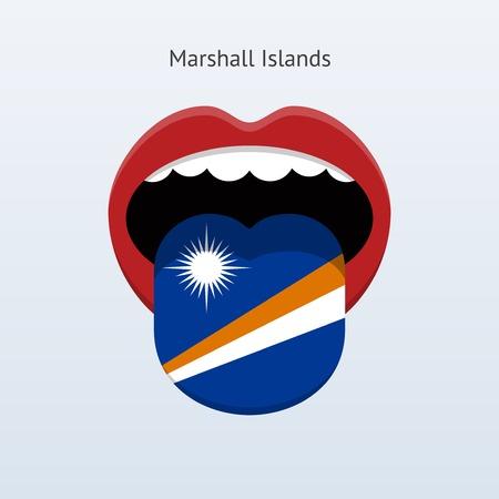 linguistics: Marshall Islands language. Abstract human tongue. Vector illustration.