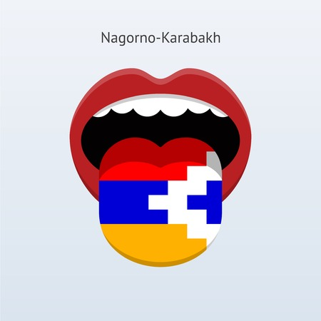 linguist: Nagorno-Karabakh language. Abstract human tongue. Vector illustration. Illustration
