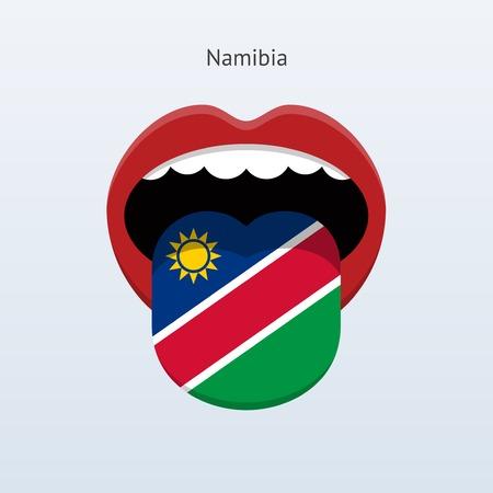 human tongue: Namibia language. Abstract human tongue. Vector illustration.