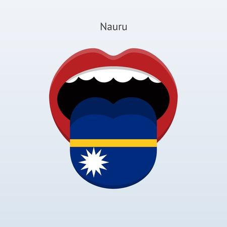 linguist: Nauru language. Abstract human tongue. Vector illustration. Illustration