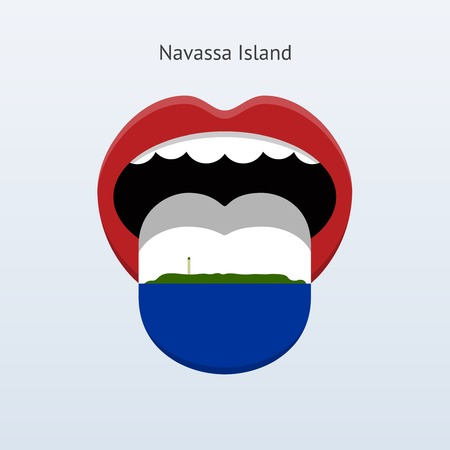 linguistics: Navassa Island language. Abstract human tongue. Vector illustration.