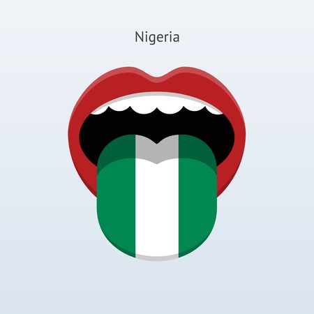 linguist: Idioma Nigeria. Lengua humana abstracta. Ilustraci�n del vector.