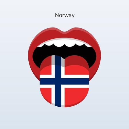 Norway language. Abstract human tongue. Vector illustration. Çizim