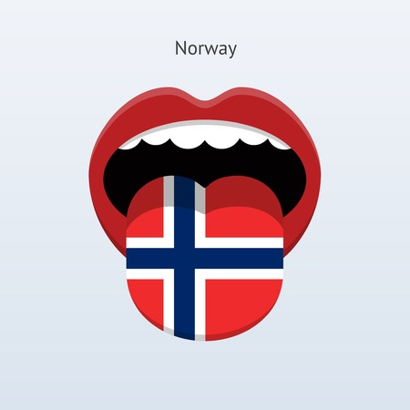 linguist: Norway language. Abstract human tongue. Vector illustration. Illustration