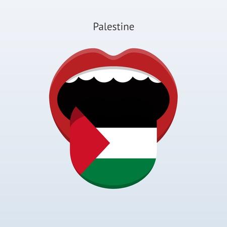 linguist: Idioma Palestina. Lengua humana abstracta. Ilustraci�n del vector.
