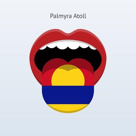 Palmyra Atoll language. Abstract human tongue. Vector illustration. Çizim