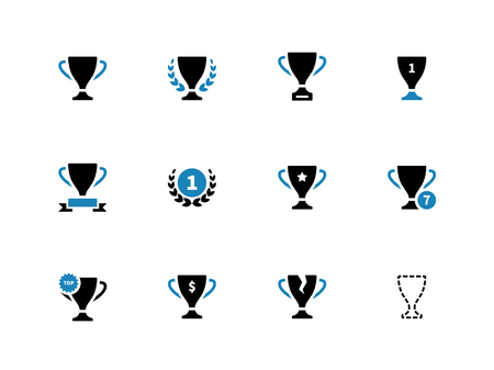 duotone: Cup duotone icons on white background. Vector illustration. Illustration