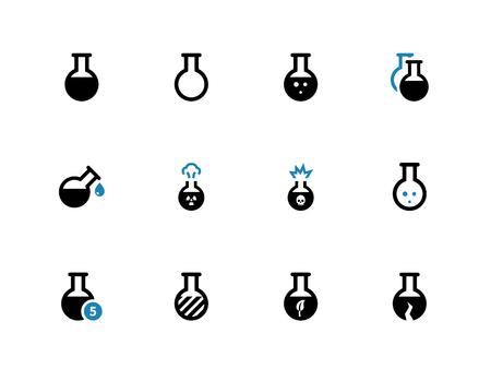 duotone: Flacon duotone icons on white background. Vector illustration. Illustration