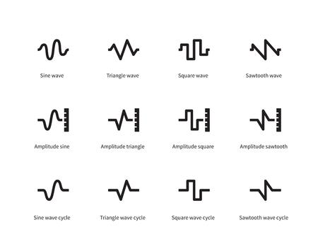 Voice golven pictogrammen op een witte achtergrond. Vector illustratie.
