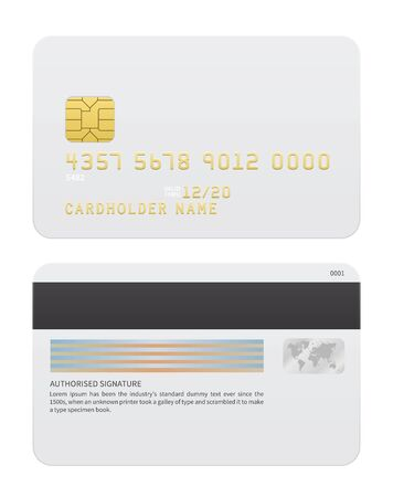 credit card payment: Realistic Vector Credit cards isolated on white background. Vector illustration