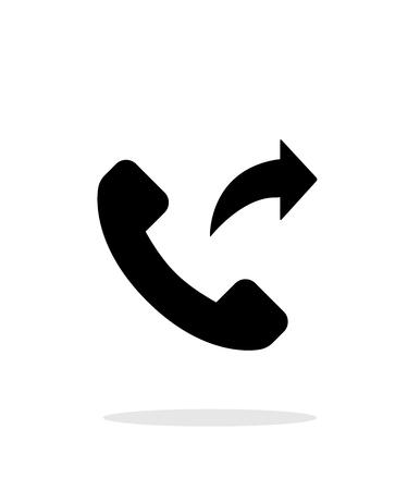 forwarding: Call forwarding simple icon on white background.