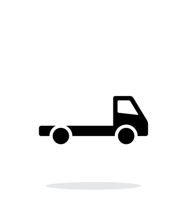 Empty truck simple icon on white background.