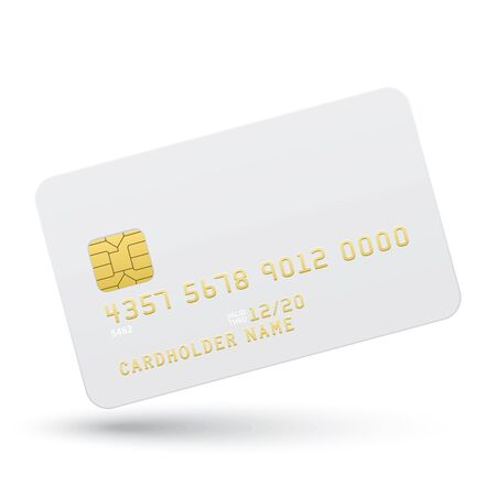 credit: Bank card on a white background.