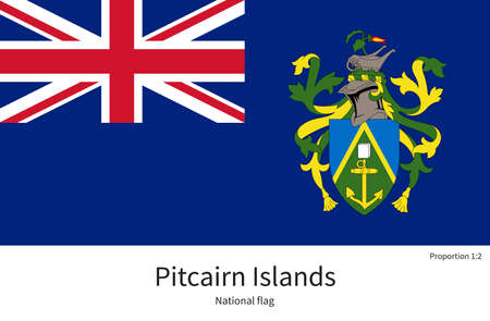 pitcairn: National flag of Pitcairn Islands with correct proportions, element, colors for education books and official documentation