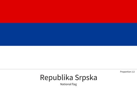 republika: National flag of Republika Srpska with correct proportions, element, colors for education books and official documentation