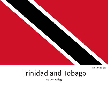 port of spain: National flag of Trinidad and Tobago with correct proportions, element, colors for education books and official documentation