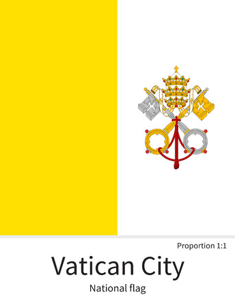 vatican city: National flag of Vatican City with correct proportions, element, colors for education books and official documentation