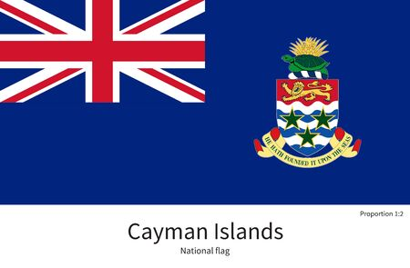 cayman islands: National flag of Cayman Islands with correct proportions, element, colors for education books and official documentation Illustration