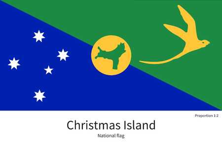 the settlement: National flag of Christmas Island with correct proportions, element, colors for education books and official documentation