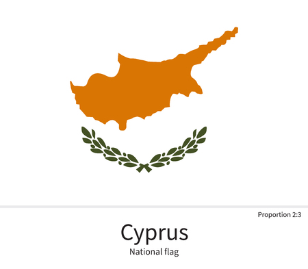 western asia: National flag of Cyprus with correct proportions, element, colors for education books and official documentation