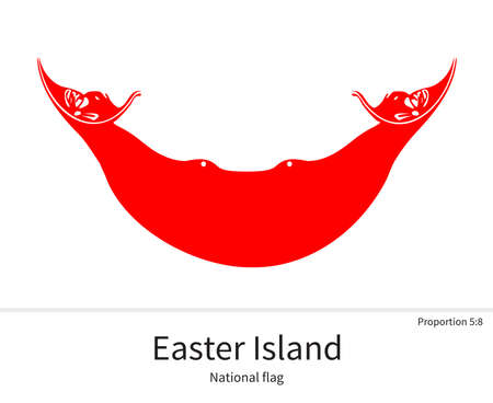 easter island: National flag of Easter Island with correct proportions, element, colors for education books and official documentation Illustration