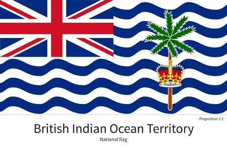 documentation: National flag of British Indian Ocean Territory with correct proportions, element, colors for education books and official documentation