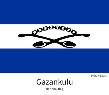 documentation: National flag of Gazankulu with correct proportions, element, colors for education books and official documentation