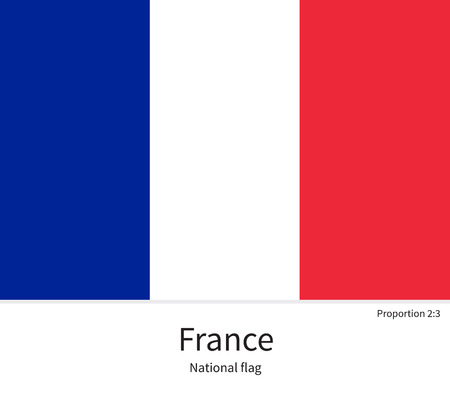 france: National flag of France with correct proportions, element, colors for education books and official documentation
