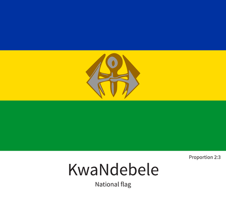 documentation: National flag of KwaNdebele with correct proportions, element, colors for education books and official documentation